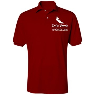 Chile Verde Restaurant Unisex Jerzees Spotshield Polo Shirt