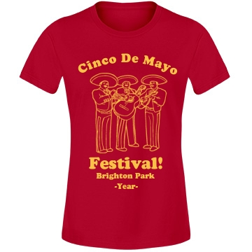 Cinco De Mayo Festival Misses Relaxed Fit Anvil Lightweight Fashion Tee