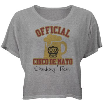 Cinco De Mayo Tee Bella Flowy Boxy Lightweight Crop Top Tee