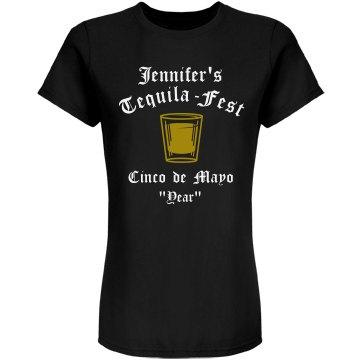 Cinco De Mayo Tequila Junior Fit American Apparel Fine Jersey