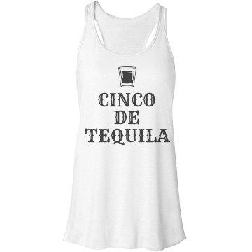 Cinco De Tequila Bella Flowy Lightweight Racerback Tank Top