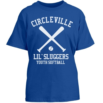 Circleville Softball T Youth Gildan Heavy Cotton Crew Neck Tee