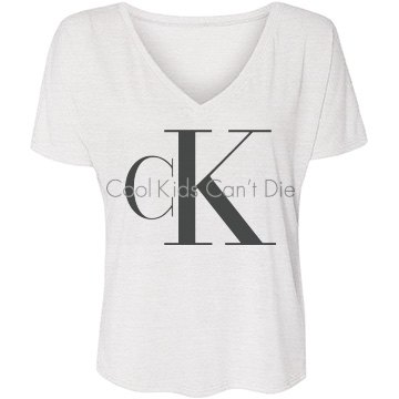 CK Kids Can't Die Bella Flowy Lightweight V-Neck Drop-Sleeve Tee