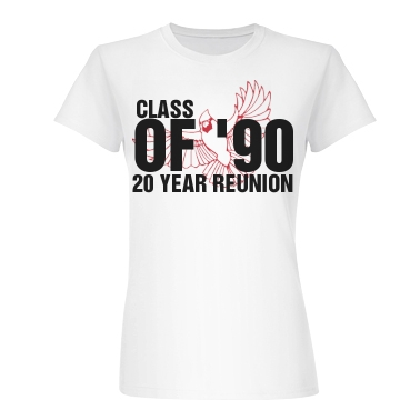 Class Of 1990 Reunion Junior Fit Basic Bella Favorite Tee
