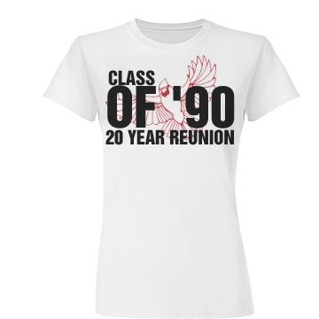 Class Of 1990 Reunion Junior Fit Basic Tulte