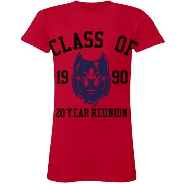 Class of 1990 Twenty Year Junior Fit LA T Fine Jersey