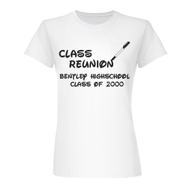 Class of 2000 Reunion Junior Fit Basic Bella Favorite Tee
