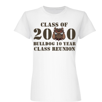 Class Of 2000 Ten Year  Junior Fit Basic Bella Favorite Te