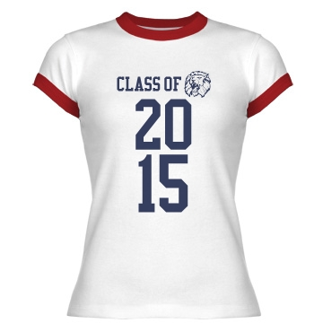 Class Of... Junior Fit Bella 1x1 Rib Ringer Tee