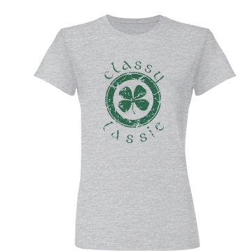 Classy Lassie Distressed Junior Fit Basic Bella Favorite Tee