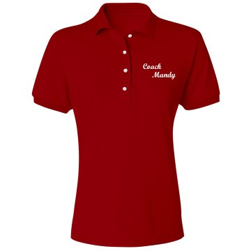 Coach Mandy w/ Back Misses Relaxed Fit Jerzees Spotshield Polo Shirt