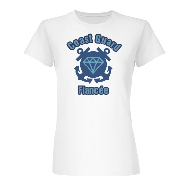 Coast Guard Fiancee Junior Fit Basic Bella Favorite Tee