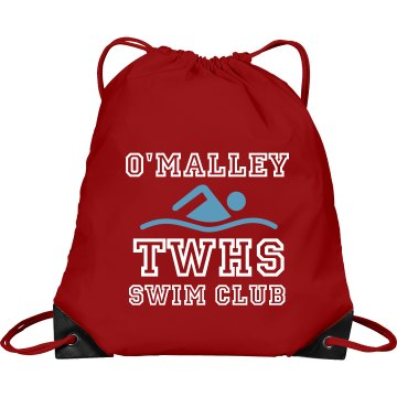 College Swim Club Port & Company Drawstring Cinch Bag
