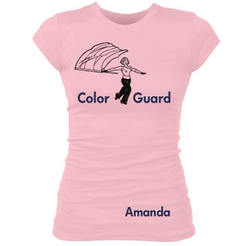 Color Guard Amanda Junior Fit Bella Sheer Longer Length Rib Tee