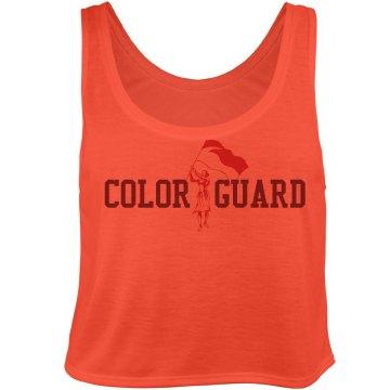 Color Guard Crop Bella Flowy Boxy Lightweight Crop Top Tank Top