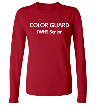Color Guard Senior Junior Fit Bella Long Sleeve Crewneck Jersey Tee