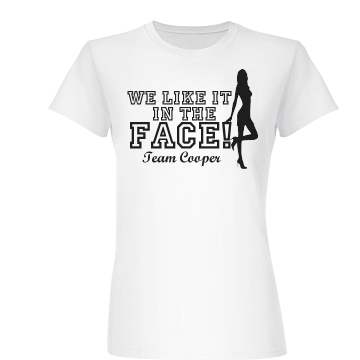 Color Run in the Face Junior Fit Basic Bella Favorite Tee