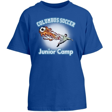 Columbus Soccer Camp Youth Gildan Heavy Cotton Crew Neck Tee