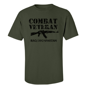 Combat Veteran Unisex Gildan Heavy Cotton Crew Neck Tee
