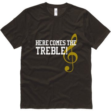 Comes The Treble Guy  Unisex Canvas Jersey Tee