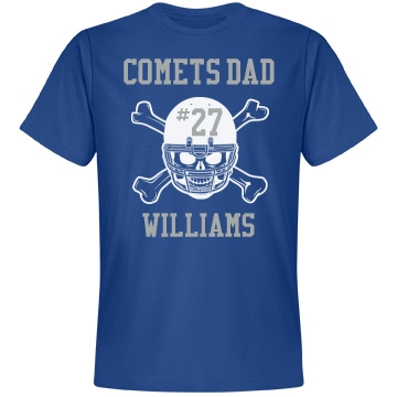 Comets Dad Unisex Anvil Lightweight Fashion Tee