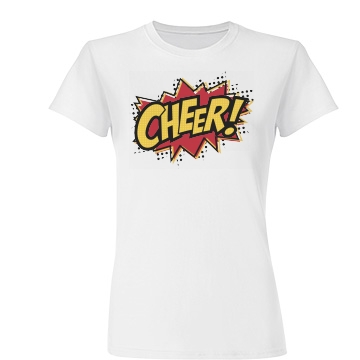 Comic Style Cheer Shirt Junior Fi