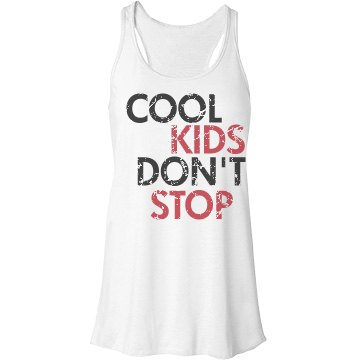 Cool Kids Don't Stop Bella Flowy Lightweight Racerback Tank Top