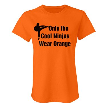 Cool Ninjas Wear Orange Junior Fit Bella Favorite Tee
