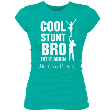 Cool Stunt Bro Junior Fit Bella Sheer Longer Length Rib Tee