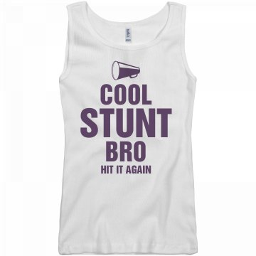 Cool Stunt Bro Tank Junior Fit Basic Bella 2x1 Rib Tank Top