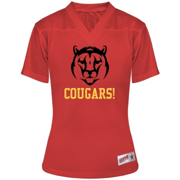 Cougars Football w/ Back Junior Fit Soffe Mesh Football Jersey