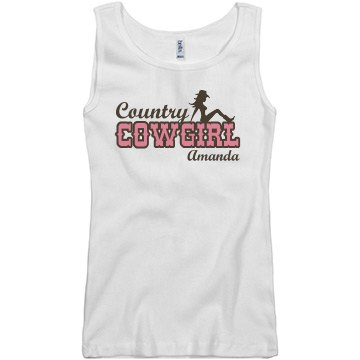 Country Cowgirl Junior Fit Basic Bella 2x1 Rib Tank Top