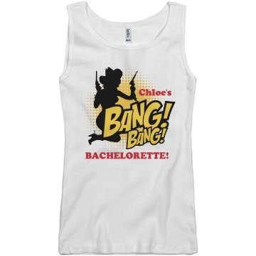 Cowgirl Chloe's Shootout Junior Fit Basic Bella 2x1 Rib Tank Top