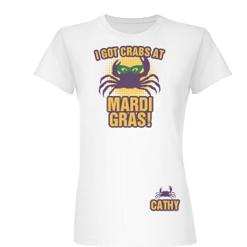 Crabs at Mardi Gras Junior Fit Basic Bella Favorite Tee