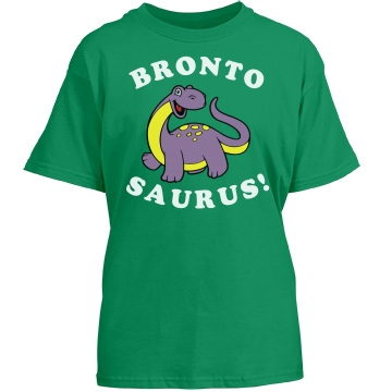 Crazy About Brontosaurus Youth Port & Company Essential Tee