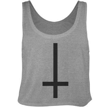 Cross of St. Peter Bella Flowy Boxy Lightweight Crop Top Tank Top