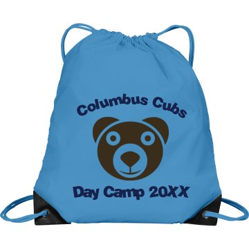 Cubs Day Camp Port & Company Drawstring Cinch Bag