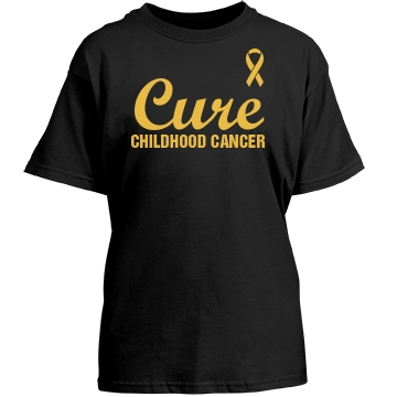 Cure Childhood Cancer Youth Gildan Heavy Cotton Crew Neck Tee