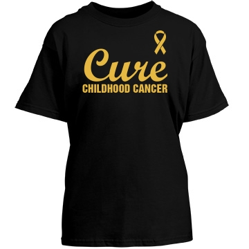 Cure Childhood Cancer Youth Port & Company Essential Tee