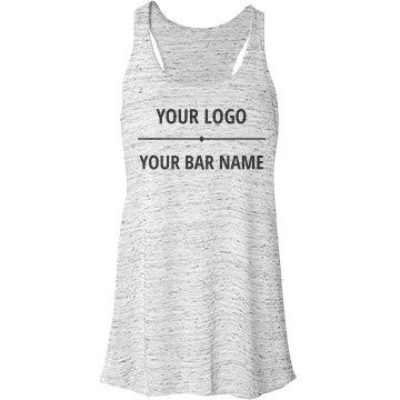 Custom Bar Name And Logo Bella Flowy Lightweight Racerback Tank Top