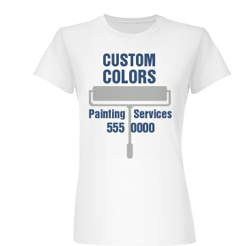 Custom Colors Painting Junior Fit Basic Bella Favorite Tee