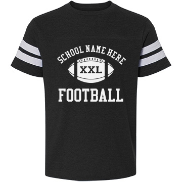 Custom football sister shirts this mom means business for Youth football t shirt designs