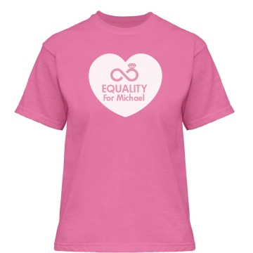 Custom Gay Equality Misses Relaxed Fit Gildan Heavy Cotton Tee