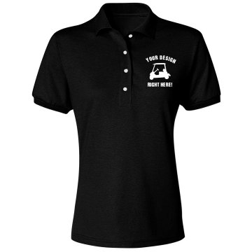 Custom Golf Shirt Misses Relaxed Fit Jerzees Spotsh