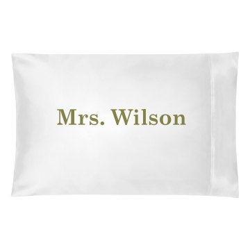Custom Mrs. Pillowcase