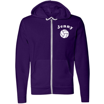 Custom Name V-Ball Hoody Unisex Canvas Fleece Full-Zip Hoodie