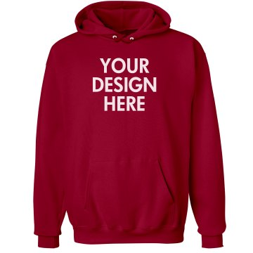 Custom Red Hooded Unisex Hanes Ultimate Cotton Heavyweight Hoodie