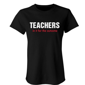 Teachers Tee Junior Fit Bella Sheer Longer Length Rib Tee