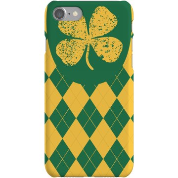 Distressed Shamrock Case Plastic iPhone 5 Case Black