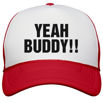 Yeah Buddy Hat KC Caps Poly-Foam Snapback Trucker Hat